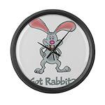 Got Rabbit? Large Wall Clock
