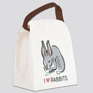 I Love Rabbits Canvas Lunch Bag