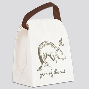 Vintage Year Of The Rat Canvas Lunch Bag