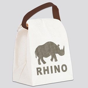 Vintage Rhino Canvas Lunch Bag