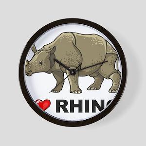 I Love Rhino Wall Clock