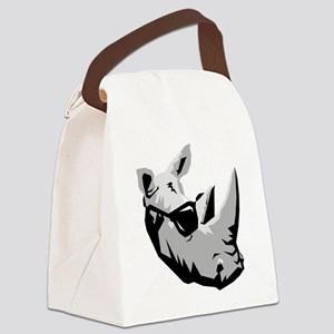 Cool Rhinoceros Canvas Lunch Bag