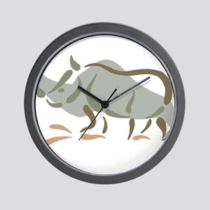 Stylized Rhinoceros Wall Clock