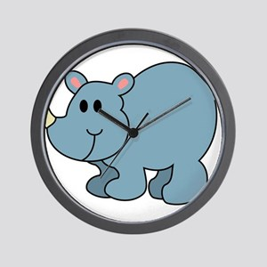 Cartoon Rhinoceros Wall Clock