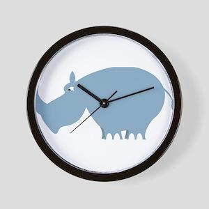 Cute Rhinoceros Wall Clock