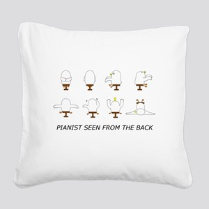 Pianist seen from the back Square Canvas Pillow