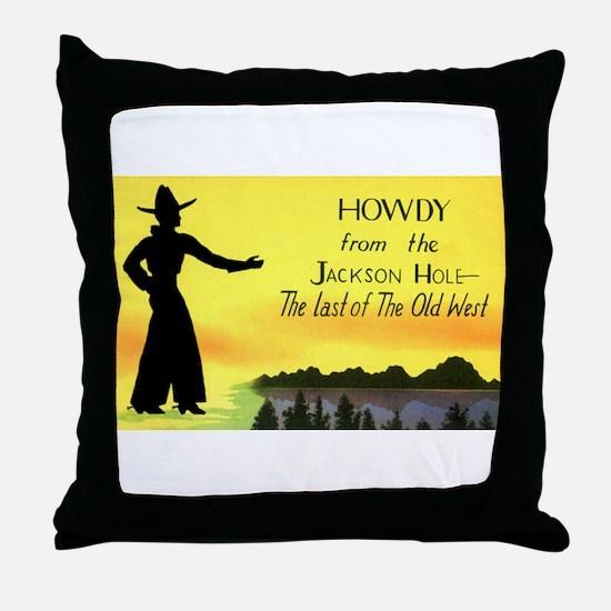Jackson Hole Wyoming Throw Pillow