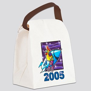 Space Rooster Canvas Lunch Bag