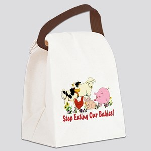 Stop Eating Our Babies Canvas Lunch Bag