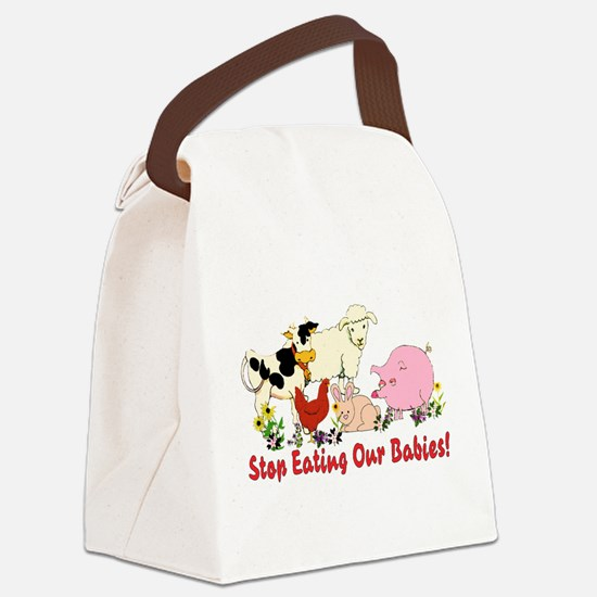 vegan012.png Canvas Lunch Bag