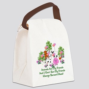 Shaw Anti-Meat Quote Canvas Lunch Bag