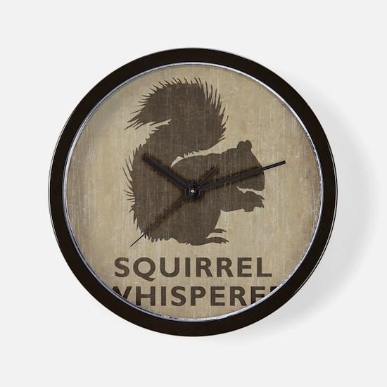 Vintage Squirrel Whisperer Wall Clock