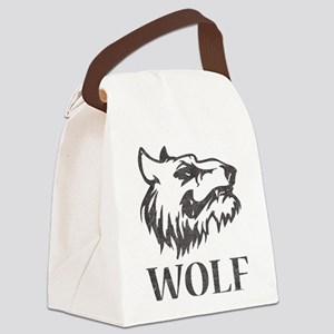 Vintage Wolf Canvas Lunch Bag
