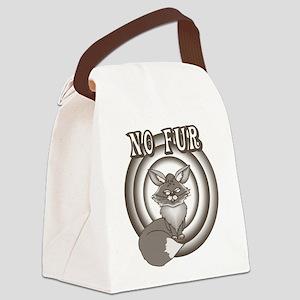 Retro No Fur Canvas Lunch Bag