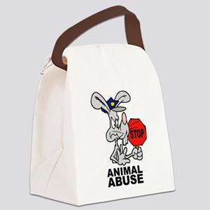 Stop Animal Abuse Canvas Lunch Bag