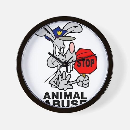 Stop Animal Abuse Wall Clock
