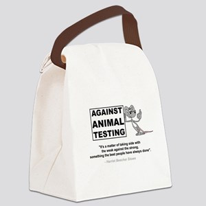 Against Animal Testing Canvas Lunch Bag