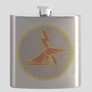 USA 9th Signal Battalion Flask
