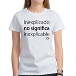Camiseta Blanca Mujer Inexplicado