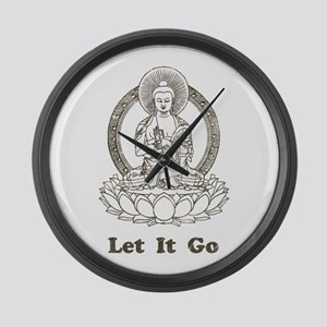 Vintage Buddha Let It Go Large Wall Clock