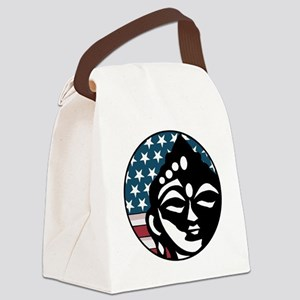 American Buddhist Canvas Lunch Bag