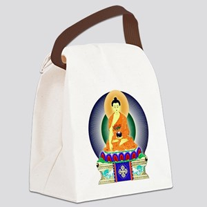 Colorful Buddha Canvas Lunch Bag