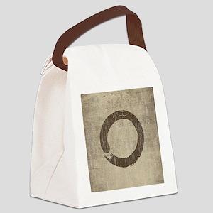 Vintage Enso Symbol Canvas Lunch Bag