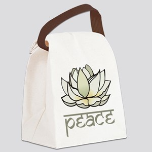 Lotus Canvas Lunch Bag