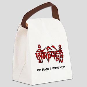 Buddhist Symbol Canvas Lunch Bag