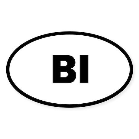 Bi Oval Sticker