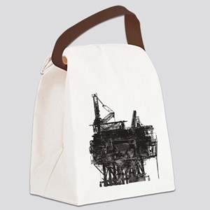 Vintage Oil Rig Canvas Lunch Bag