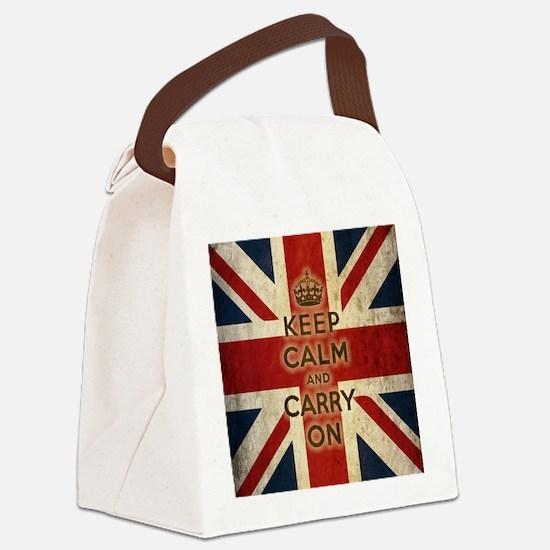 Cute Union jack Canvas Lunch Bag