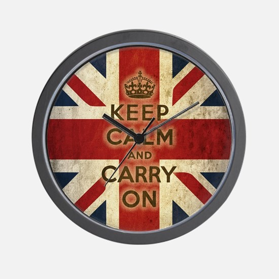 Unique Keep calm and Wall Clock