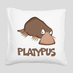 Platypus Square Canvas Pillow
