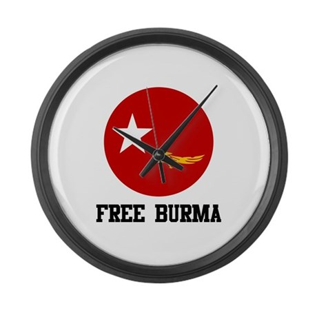 Free Burma Large Wall Clock