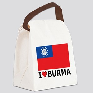 I Love Burma Canvas Lunch Bag