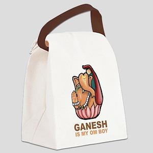 Ganesh Is My Om Boy Canvas Lunch Bag