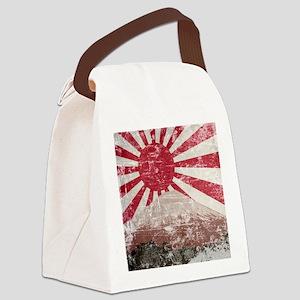 Vintage Mount Fuji Canvas Lunch Bag