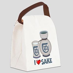 I Love Sake Canvas Lunch Bag