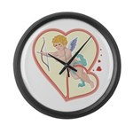 Cupid Love Large Wall Clock
