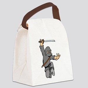 Cute Ninja Canvas Lunch Bag