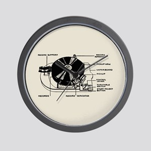 Turntable Diagram Wall Clock