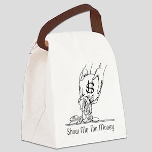 Retro Money Canvas Lunch Bag