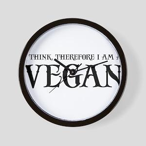 Think Vegan Wall Clock