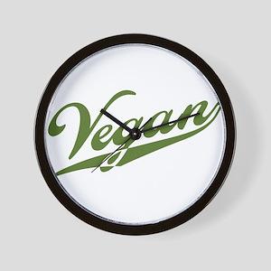 Retro Vegan Wall Clock