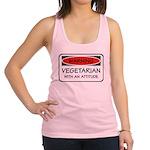 Attitude Vegetarian Racerback Tank Top