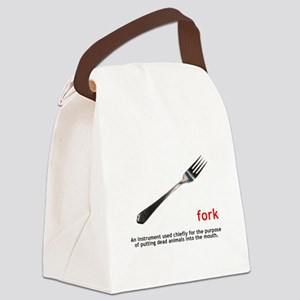 Definition Of Fork Canvas Lunch Bag
