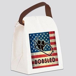 Grunge Bobsled Canvas Lunch Bag