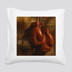 Boxing Gloves Square Canvas Pillow