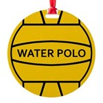 Water Polo Ball Round Ornament